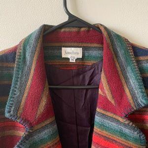 Vintage southwestern wool saddle blanket blazer